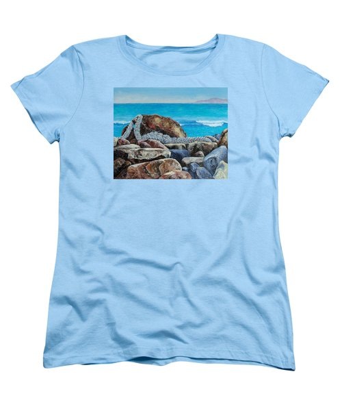 Women's T-Shirt (Standard Cut) featuring the painting Stranded by Susan DeLain