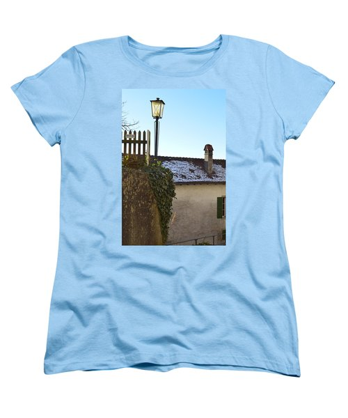 Women's T-Shirt (Standard Cut) featuring the photograph Street Lamp At The Castle  by Felicia Tica