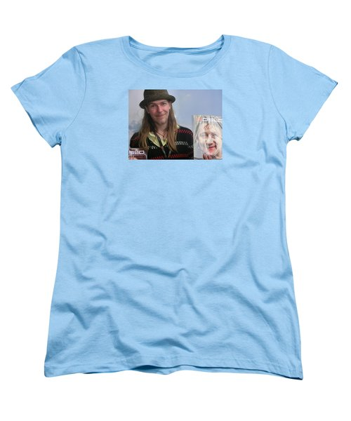 Women's T-Shirt (Standard Cut) featuring the photograph Street People - A Touch Of Humanity 5 by Teo SITCHET-KANDA