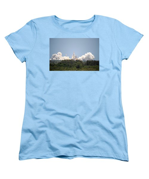 Women's T-Shirt (Standard Cut) featuring the photograph Sts-132, Space Shuttle Atlantis Launch by Science Source