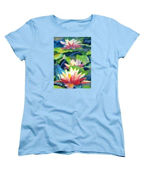 Styalized Lily Pads 3 Women's T-Shirt (Standard Cut) by Kathy Braud