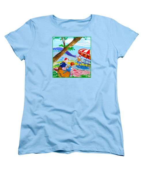 Women's T-Shirt (Standard Cut) featuring the painting Sugarland Vintage by Beth Saffer