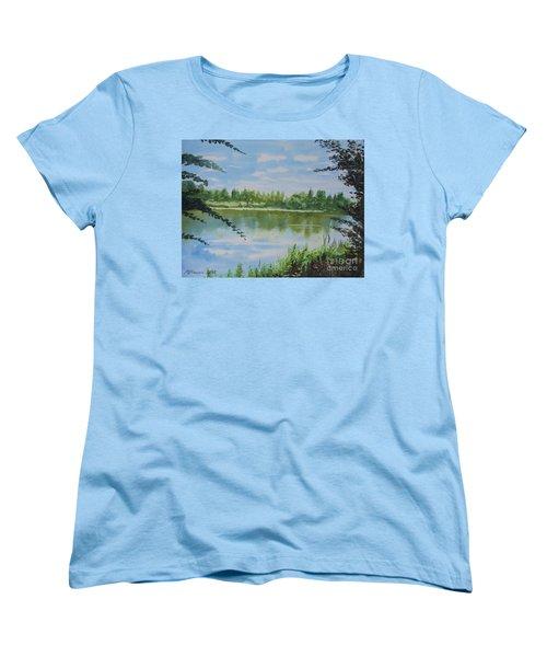 Summer By The River Women's T-Shirt (Standard Cut) by Martin Howard