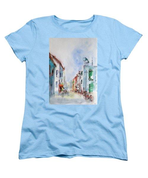 Women's T-Shirt (Standard Cut) featuring the painting Summer Morning by Faruk Koksal