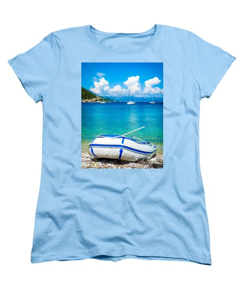 Summer Sailing In The Med Women's T-Shirt (Standard Cut) by Peta Thames