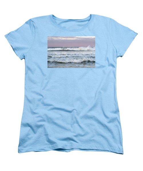 Summer Waves Seaside New Jersey Women's T-Shirt (Standard Cut) by Terry DeLuco