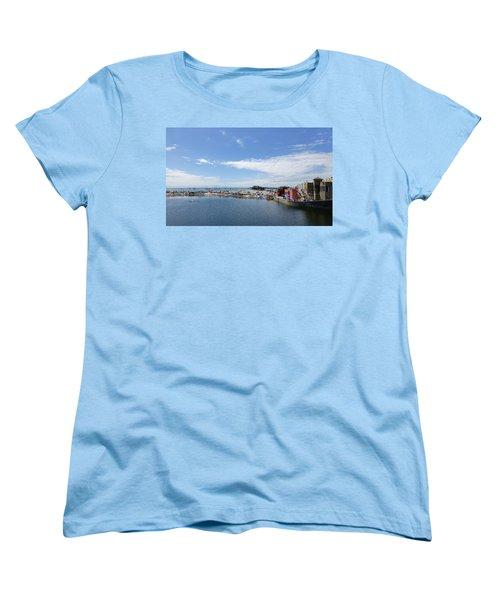 Summers End Capitola Beach Women's T-Shirt (Standard Cut) by Amelia Racca