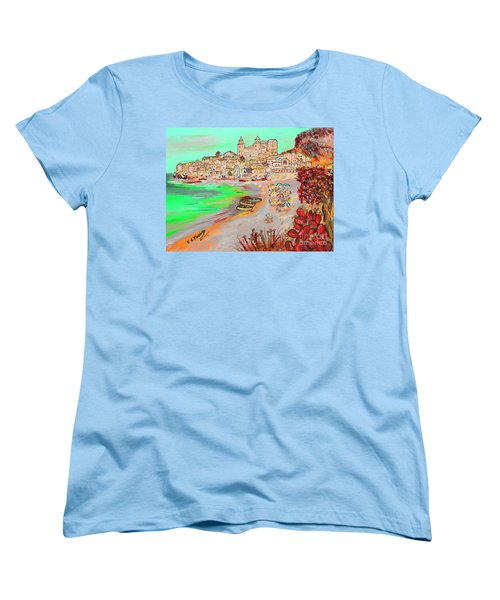 Summertime In Cefalu' Women's T-Shirt (Standard Cut) by Loredana Messina