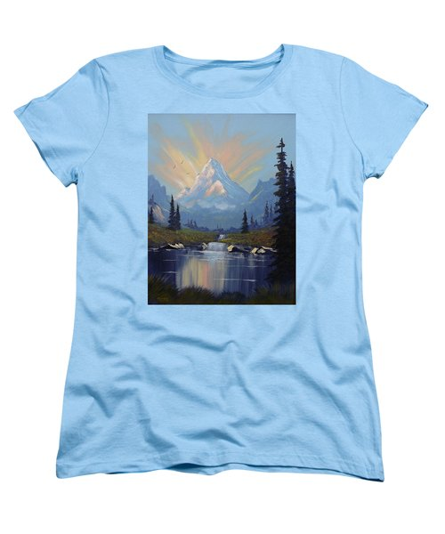 Sunburst Landscape Women's T-Shirt (Standard Cut) by Richard Faulkner