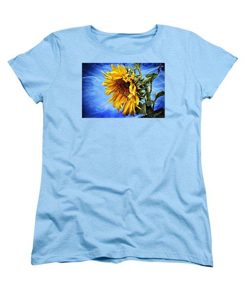 Women's T-Shirt (Standard Cut) featuring the photograph Sunflower Fantasy by Barbara Chichester