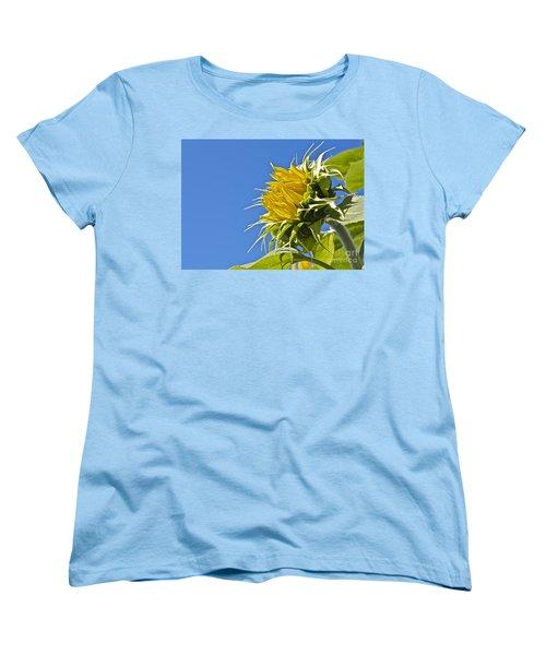 Sunflower Women's T-Shirt (Standard Cut) by Linda Bianic