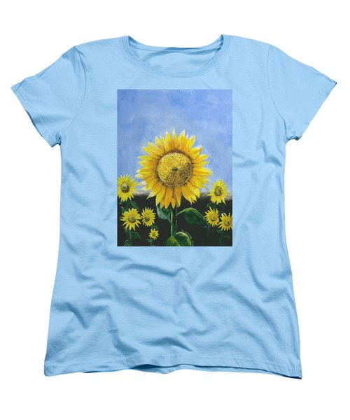 Sunflower Series One Women's T-Shirt (Standard Cut) by Thomas J Herring
