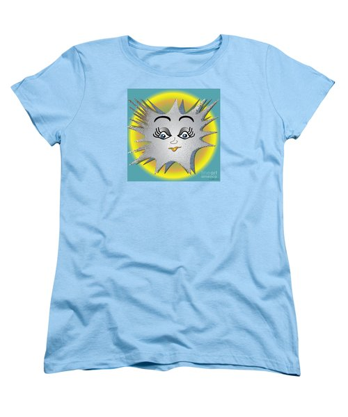 Women's T-Shirt (Standard Cut) featuring the digital art Sunny Boy by Iris Gelbart