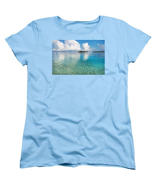 Sunny Invitation For  You. Maldives Women's T-Shirt (Standard Cut) by Jenny Rainbow