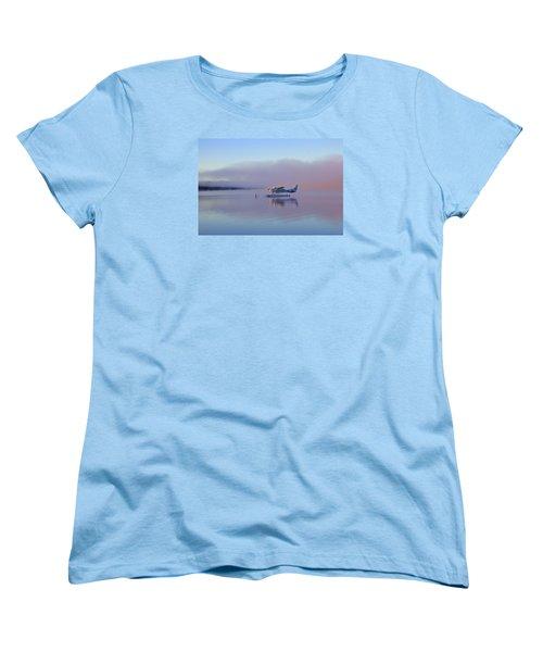 Sunrise On Lake Te Anu Women's T-Shirt (Standard Cut) by Venetia Featherstone-Witty