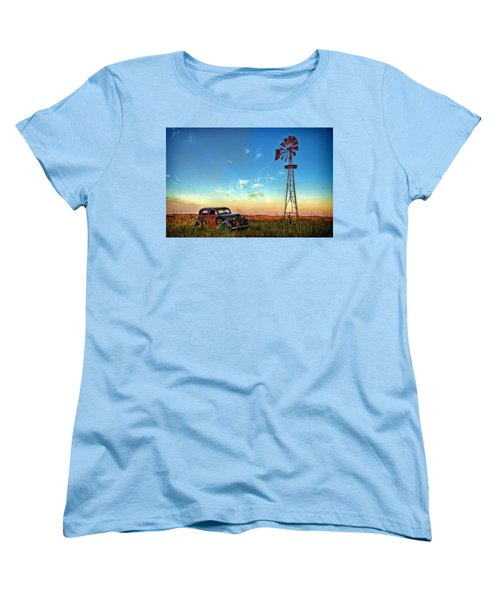 Women's T-Shirt (Standard Cut) featuring the photograph Sunrise On The Farm by Ken Smith