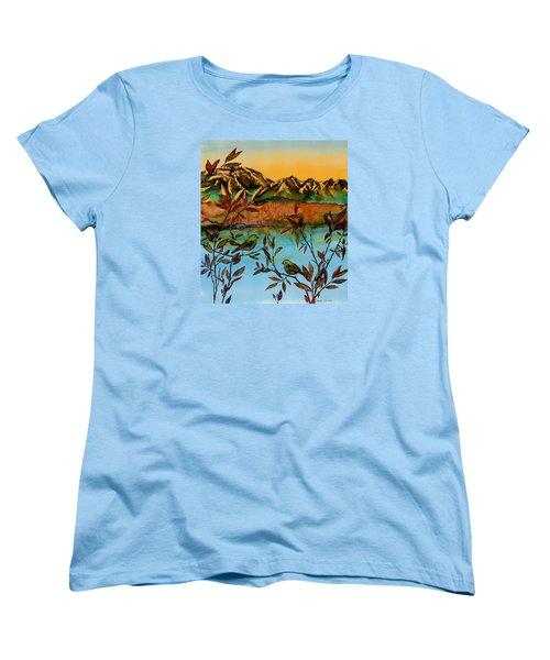Sunrise On Willows Women's T-Shirt (Standard Cut) by Carolyn Doe