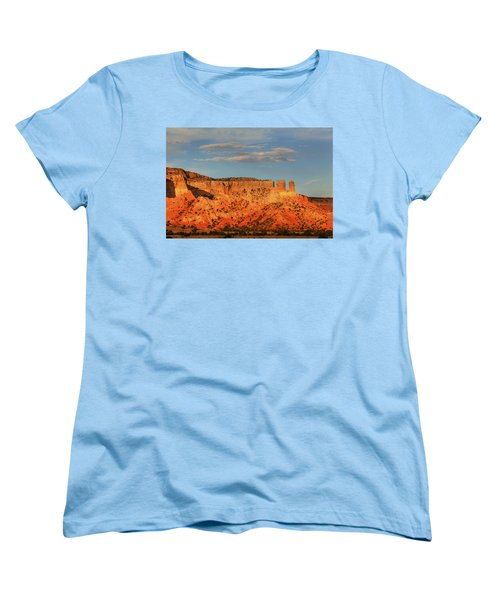 Women's T-Shirt (Standard Cut) featuring the photograph Sunset At Ghost Ranch by Alan Vance Ley