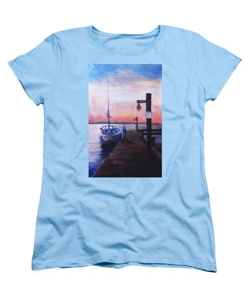 Sunset At Rocky Point Women's T-Shirt (Standard Cut) by Sher Nasser