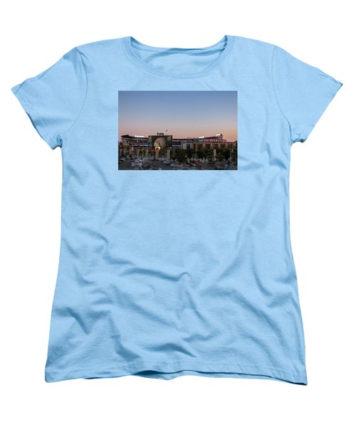 Sunset At Turner Field Women's T-Shirt (Standard Cut) by Tom Gort