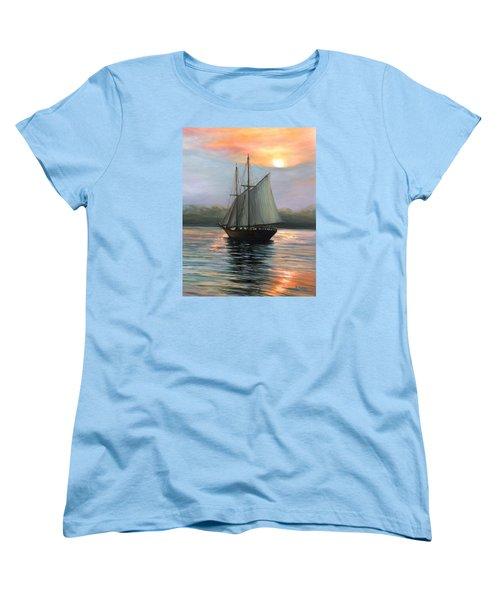 Sunset Sails Women's T-Shirt (Standard Cut) by Eileen Patten Oliver