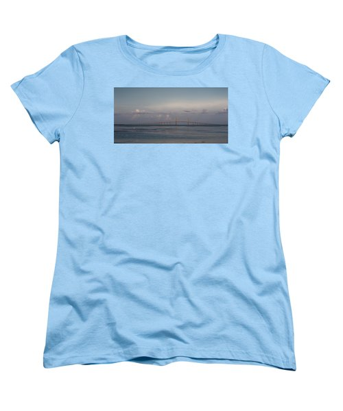 Women's T-Shirt (Standard Cut) featuring the photograph Sunshine Skyway Bridge by Steven Sparks