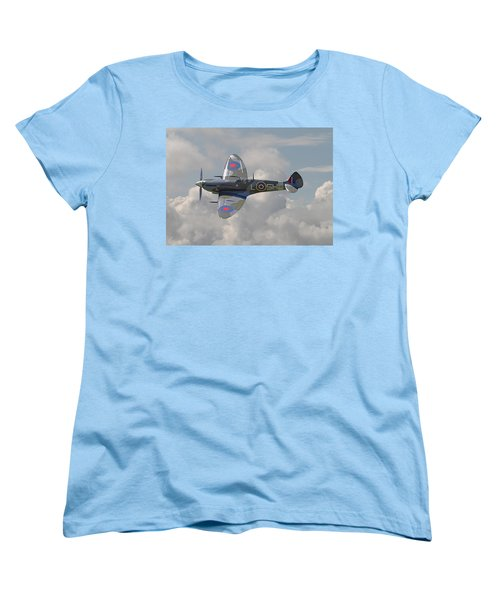 Supermarine Spitfire Women's T-Shirt (Standard Cut) by Pat Speirs