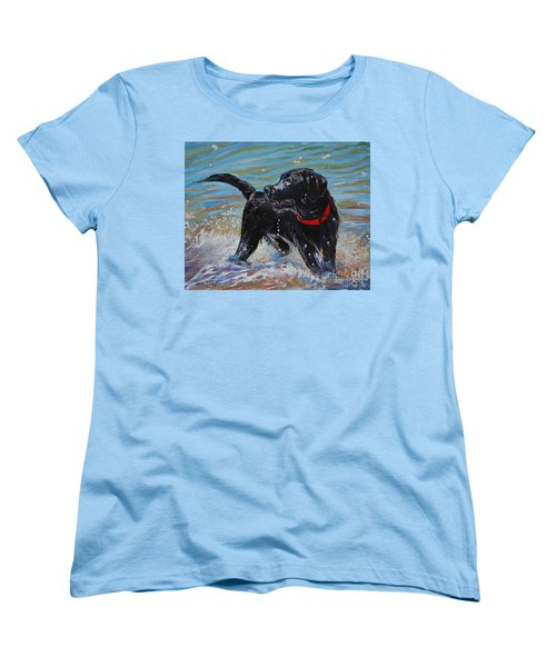 Surf Pup Women's T-Shirt (Standard Cut) by Molly Poole