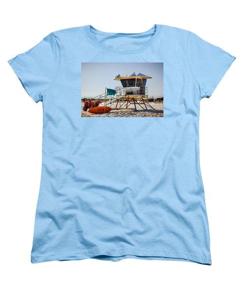 Surf Rescue Women's T-Shirt (Standard Cut) by Sennie Pierson