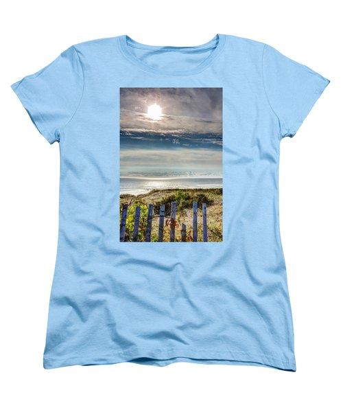 Surfers At Coast Guard Beach Women's T-Shirt (Standard Cut) by Brian Caldwell