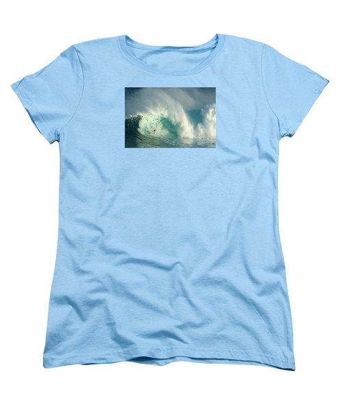 Surfing Jaws 3 Women's T-Shirt (Standard Cut) by Bob Christopher
