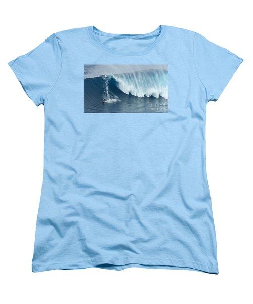 Surfing Jaws 5 Women's T-Shirt (Standard Cut) by Bob Christopher