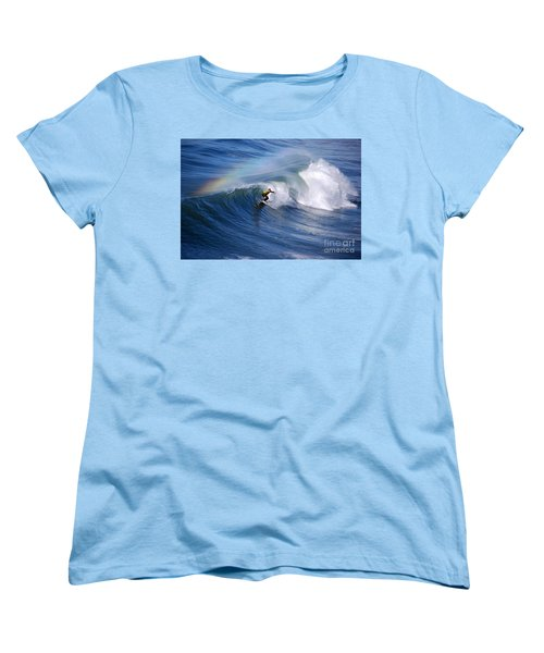 Surfing Under A Rainbow Women's T-Shirt (Standard Cut)