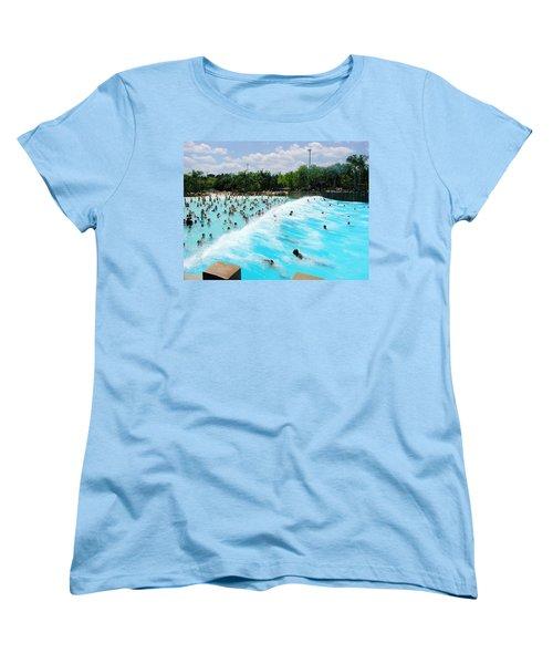 Women's T-Shirt (Standard Cut) featuring the photograph Surfs Up by David Nicholls
