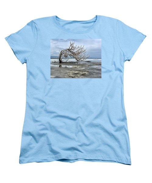A Smal Giant Bush Women's T-Shirt (Standard Cut) by Mike Santis