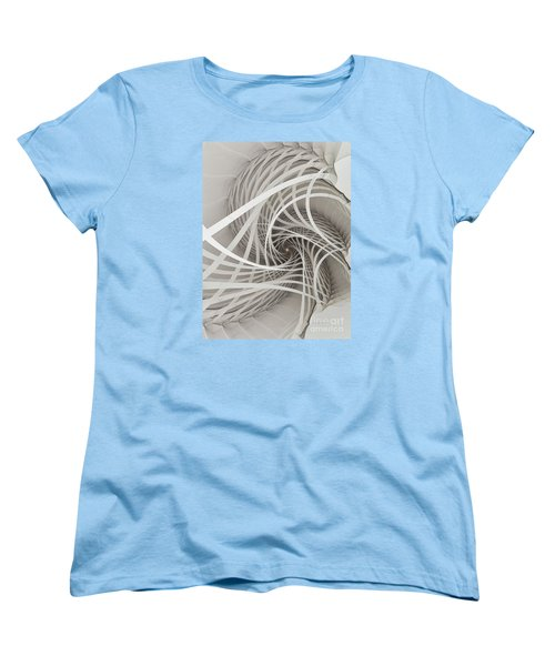 Suspension Bridge-fractal Art Women's T-Shirt (Standard Cut) by Karin Kuhlmann