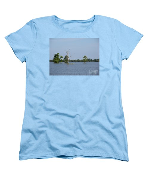 Women's T-Shirt (Standard Cut) featuring the photograph Swamp Cypress Trees by Joseph Baril