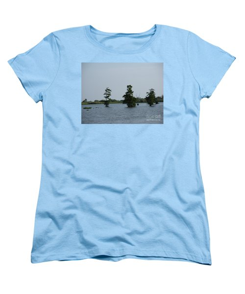 Women's T-Shirt (Standard Cut) featuring the photograph Swamp Tall Cypress Trees  by Joseph Baril