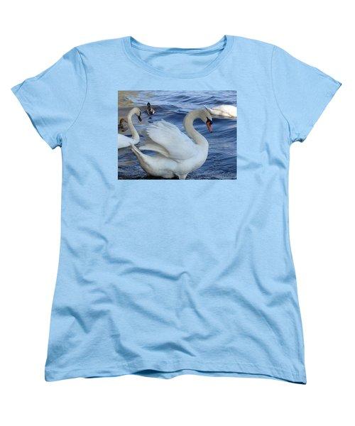 Swan Grace Women's T-Shirt (Standard Cut) by Pema Hou