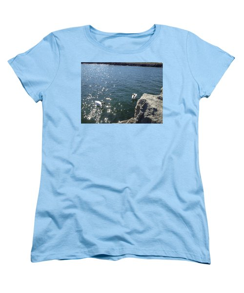 Swans And Sparkles Women's T-Shirt (Standard Cut) by Pema Hou
