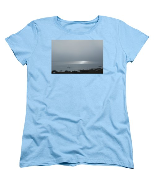 Swans At Sunrise Women's T-Shirt (Standard Cut) by Rick Mosher