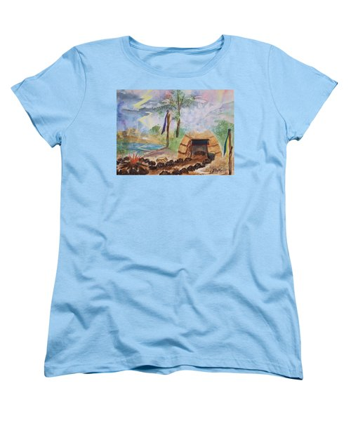 Sweat Lodge Women's T-Shirt (Standard Cut) by Ellen Levinson