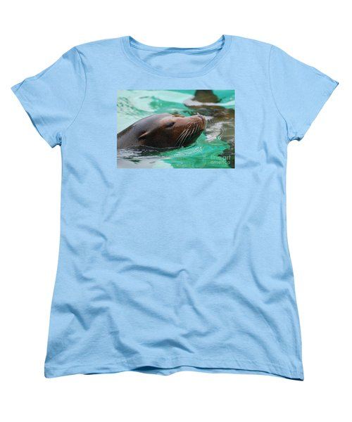 Swimming Sea Lion Women's T-Shirt (Standard Cut) by DejaVu Designs