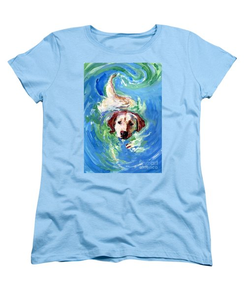 Women's T-Shirt (Standard Cut) featuring the painting Swirl Pool by Molly Poole