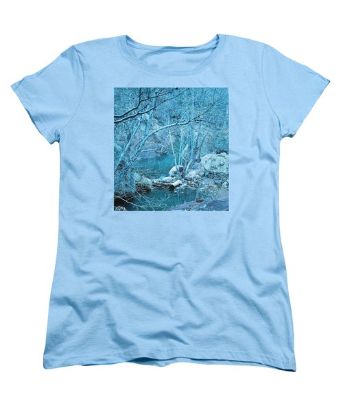 Women's T-Shirt (Standard Cut) featuring the photograph Sycamores And River by Kerri Mortenson