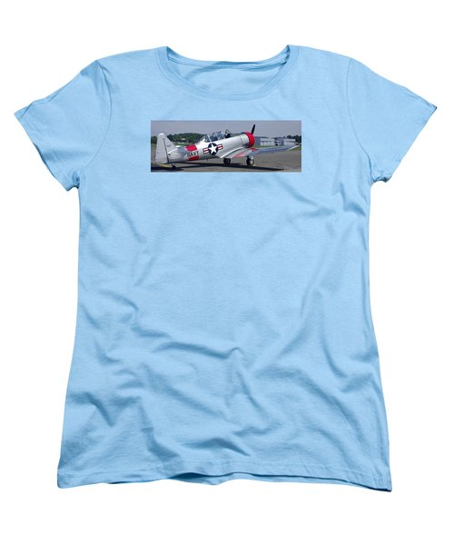 Women's T-Shirt (Standard Cut) featuring the photograph T 6 Navy Trainer by James C Thomas