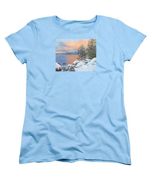 Tahoe Winter Colors Women's T-Shirt (Standard Cut) by Donna Tucker