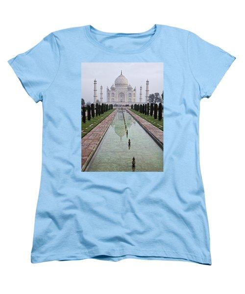 Taj Mahal Early Morning Women's T-Shirt (Standard Cut) by John Hansen