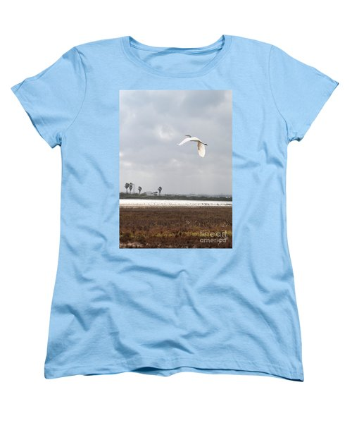 Women's T-Shirt (Standard Cut) featuring the photograph Take Off by Erika Weber