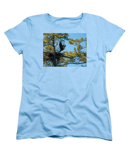 Women's T-Shirt (Standard Cut) featuring the photograph Taking Flight by Brenda Jacobs